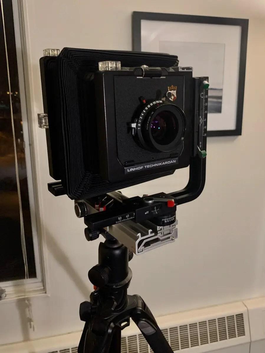 Linhof Technikardan 45 view camera and Nikkor 150mm f/5.6 lens