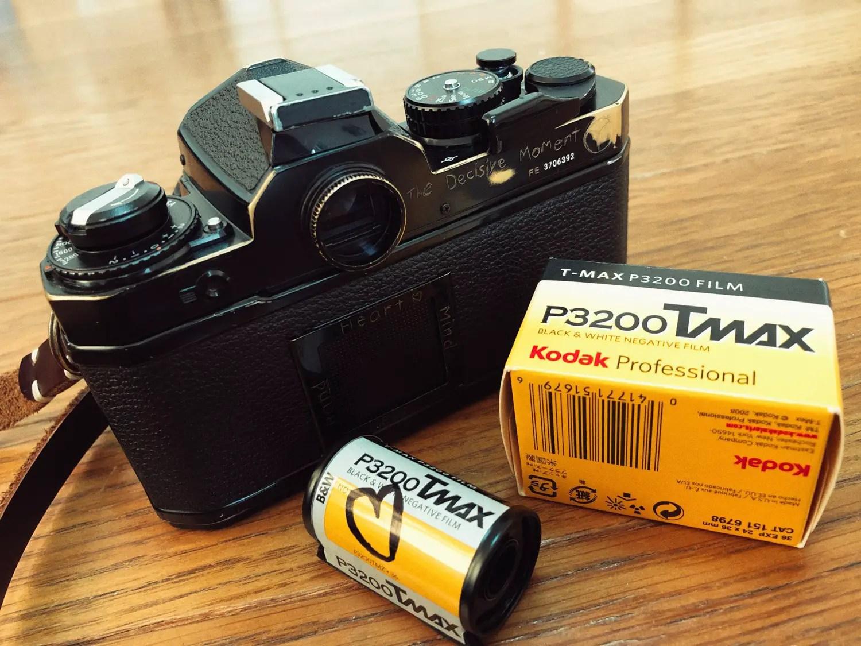 Nikon FE, Nikkor 50mm f1.8 and Kodak T-MAX P3200