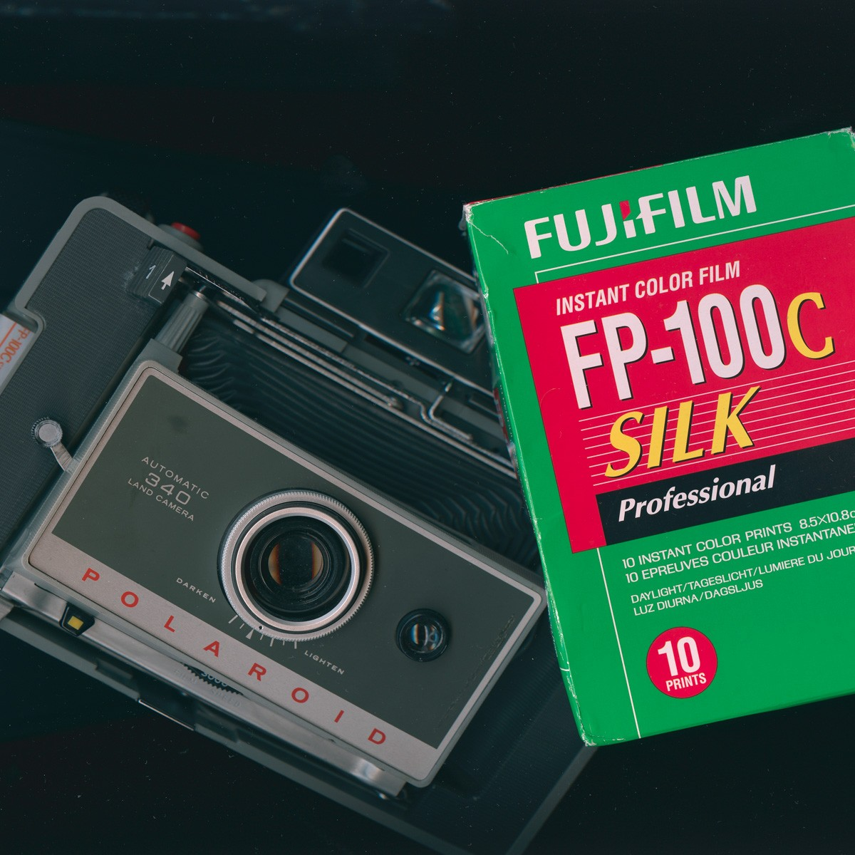 Polaroid 340 Land Camera and Fujifilm FP-100C