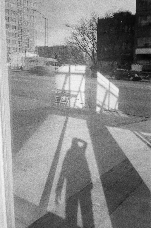 Shadow Selfie - Fomapan 200 Creative and Olympus XA