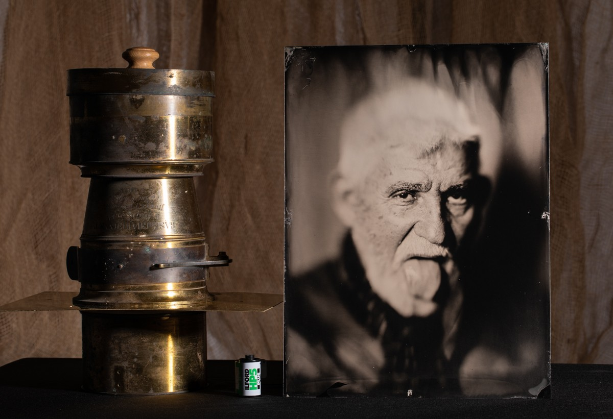 Wet plate of Prof Dr Sobotka with the Gasc and Charconnet 500mm petzval lens