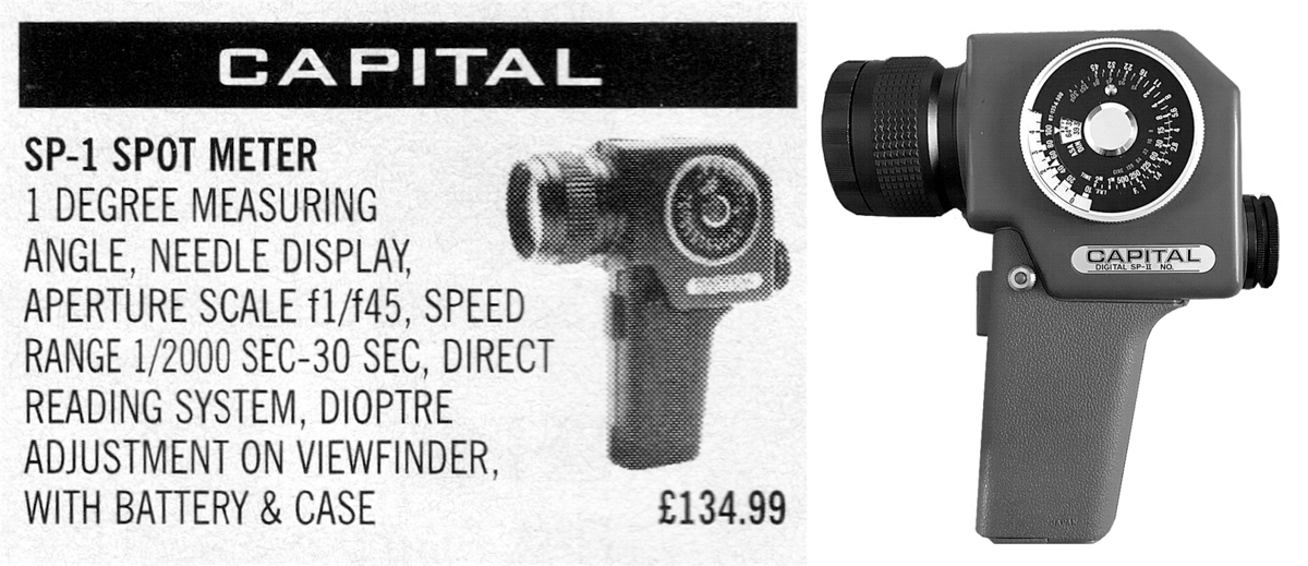 The Capital SP-1 Spot Meter