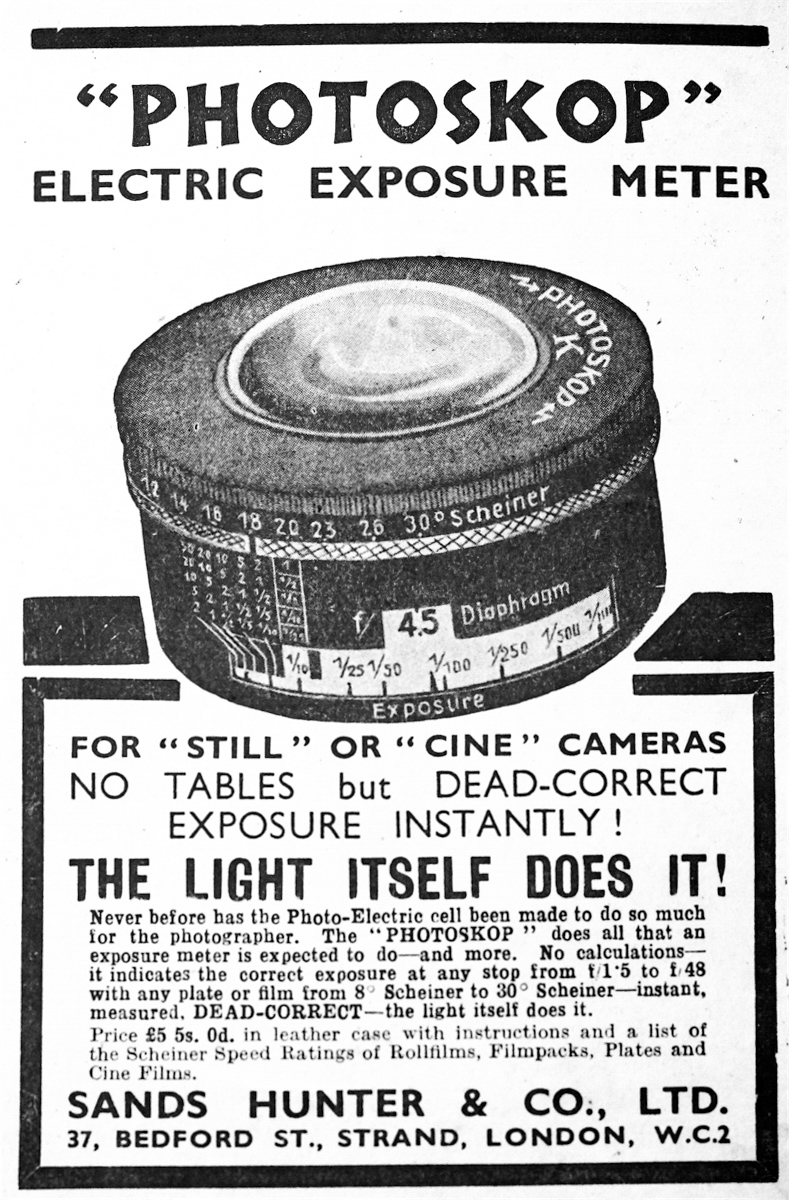 An early photoelectric light meter (1935)
