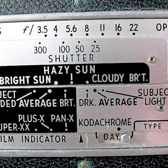 Exposure guide - Kodak