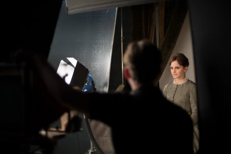 BTS on Emma Watson's wet plate shoot #2 (Credit Kimberly Scarsella)