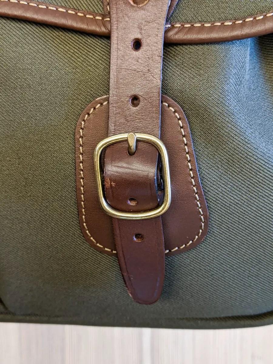 Billingham Hadley Pro 2020 - Detail - Front strap buckle