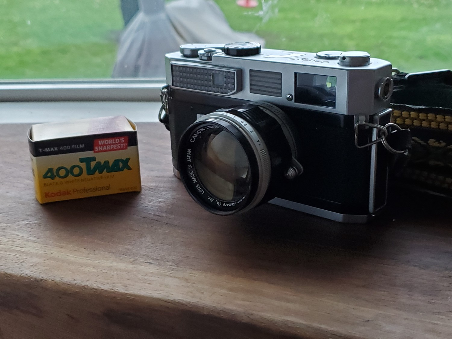 Canon 7 Rangefinder with Canon 50mm f/1.4 and Kodak T-MAX 400