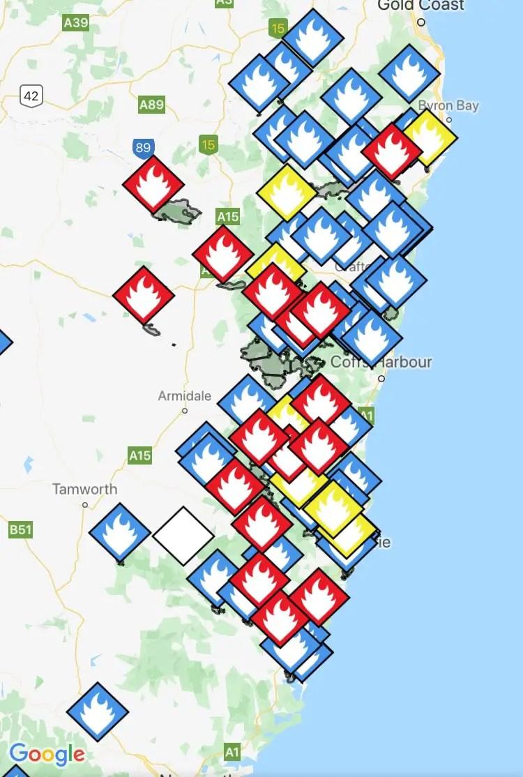 NSW Google Maps