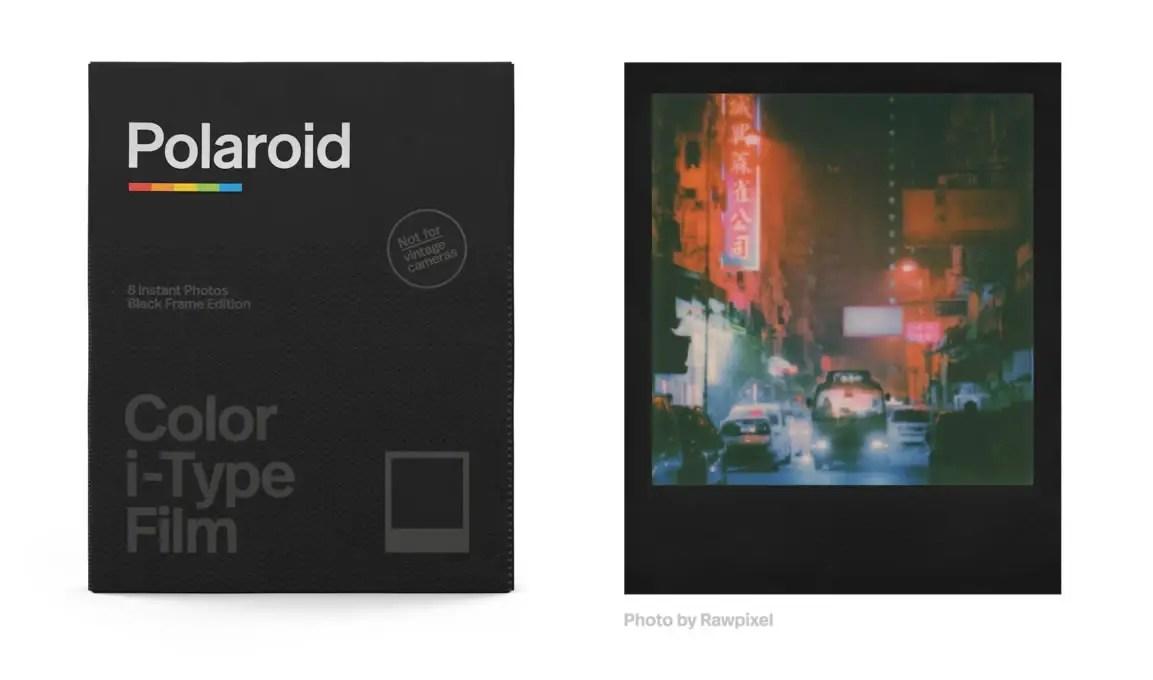 Color i‑Type Film ‑ Black Frame Edition. Credit: Polaroid.com