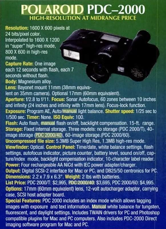 Polaroid PDC-2000/40
