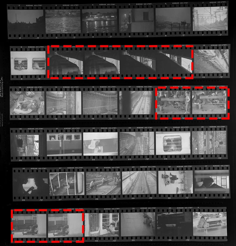 Kodak T-MAX 400 contact sheet