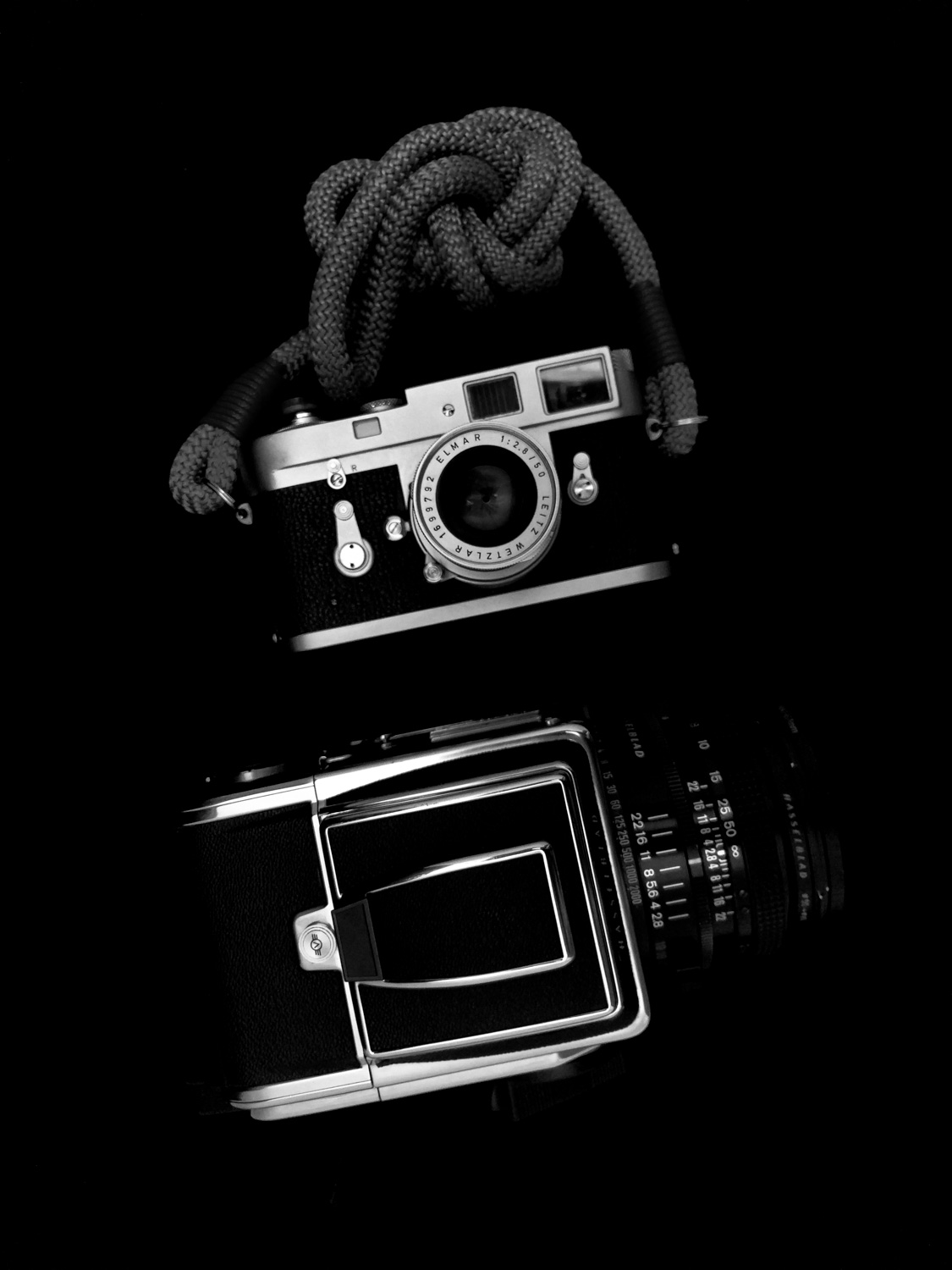 Hasselblad 2000FCW vs Leica M2 and Leica Tele-Elmarit 50mm f/2.8