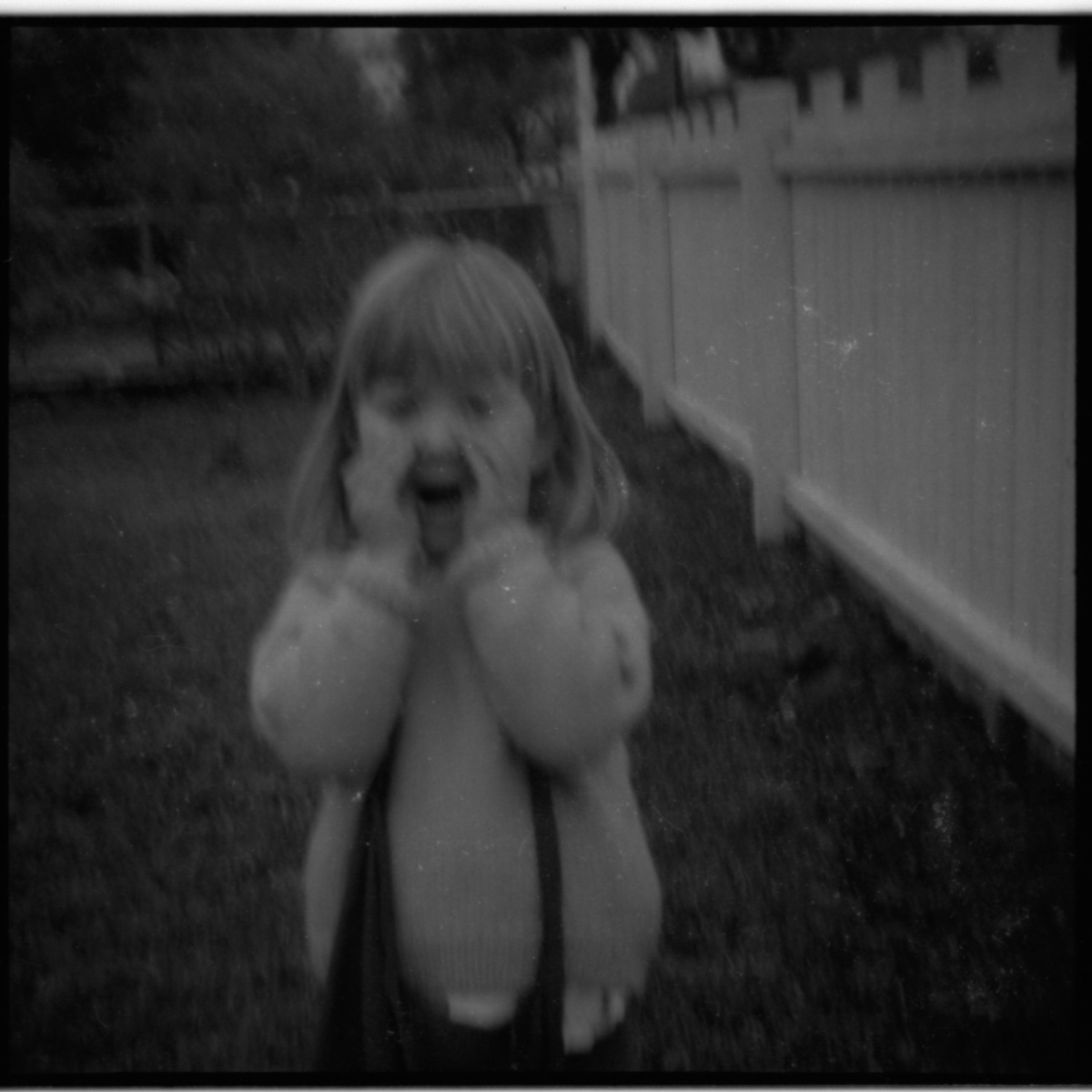 "This is my sister - aged three - doing ""the face"". She used to do it quite a bit."