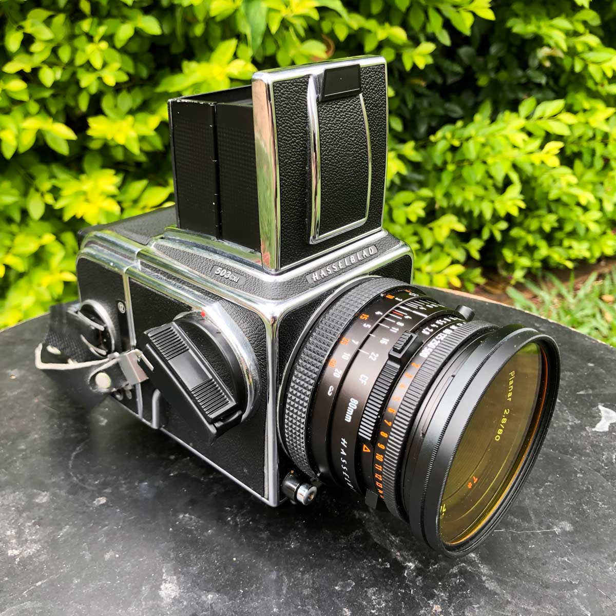 My Hasselblad 503 CXi and Carl Zeiss Planar CF 80mm f:2.8 with Tiffen Y(2K) filter