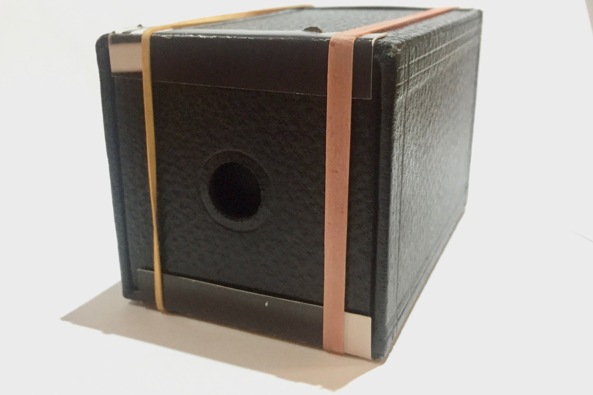 Kodak Brownie 1B with rubber bands