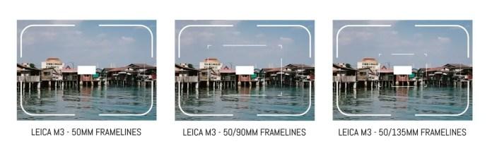 Leica Framelines - M3 50mm, 90mm, 135mm
