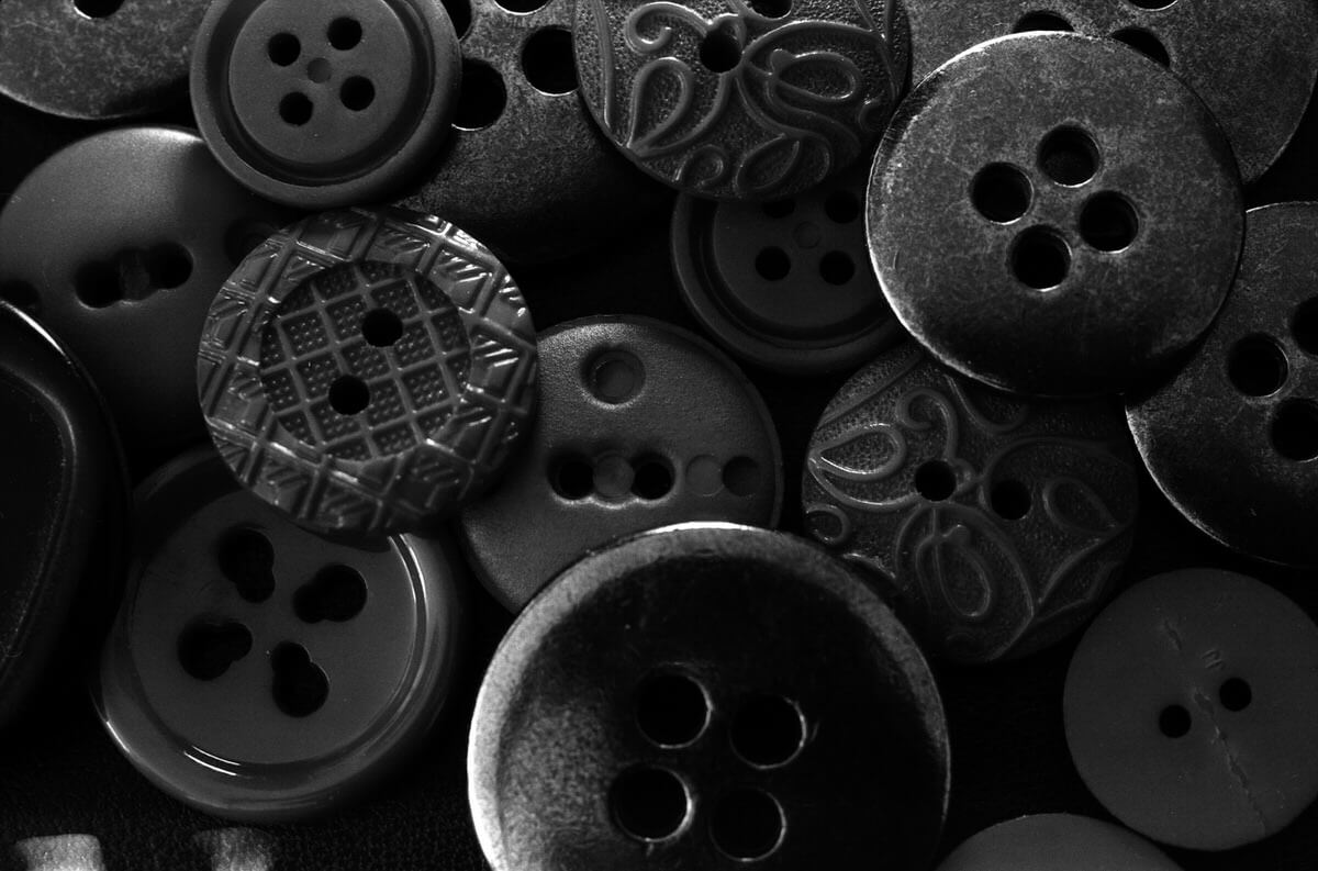Buttons - ILFORD PAN F, Olympus OM-1 and Zuiko Auto-Macro 50mm f/3.5 - Mercedes van study