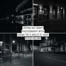 Trying out night photography with Kodak Tri-X 400 at EI 1600