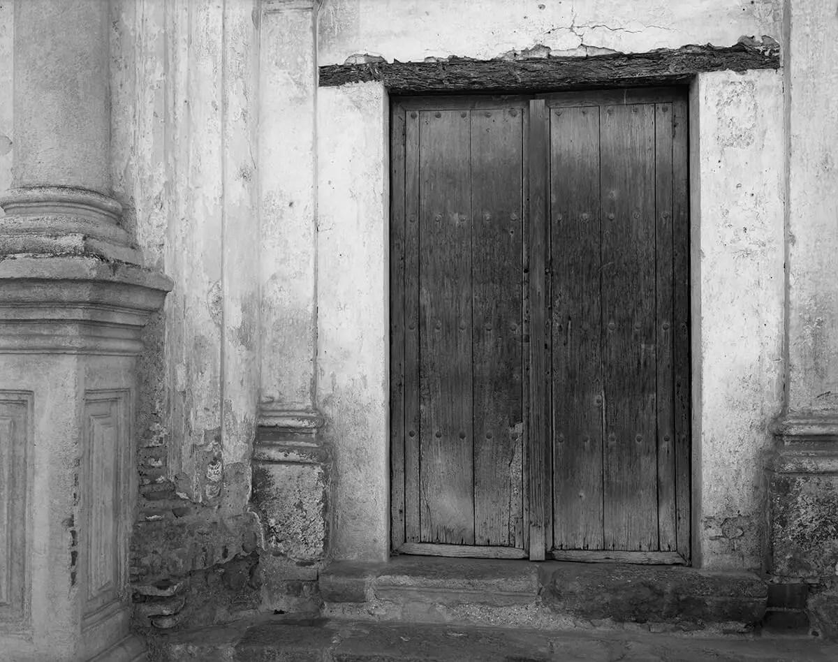 Peter Rockstroh - Convento de Santa Clara, Antigua Guatemala, Guatemala - Kodak Tri-X 320 in Kodak HC-110, Calumet 8x10, Contact Print