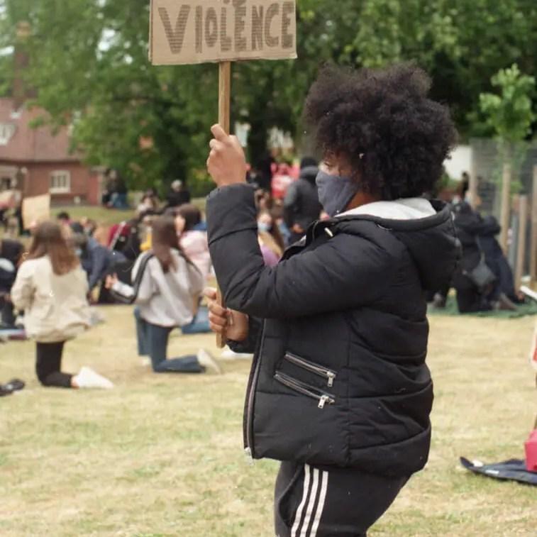 Silence is violence - #BlackLivesMatter, Hitchin June 6th 2020