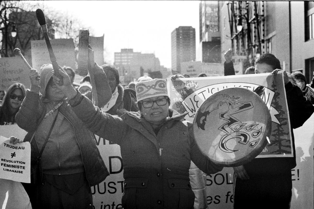 5 Frames... Of the 2020 Montreal International Women's Day march on ILFORD HP5 PLUS (EI 800 / 35mm Format / Canon F-1 Montreal 1976 Olympics edition) - by Pablo A. Ortiz