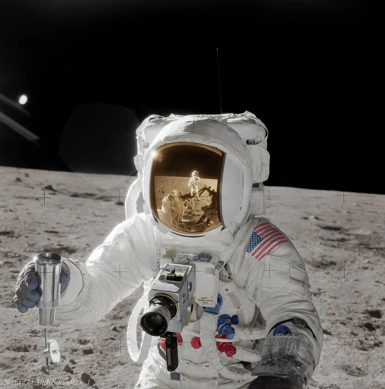 Apollo 12, Alan Bean - Colourised - Remastered