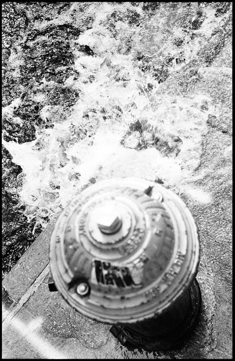 Leica M3 and 5cm f/3.5 Elmar LTM - Open fire hydrant, Bushwick