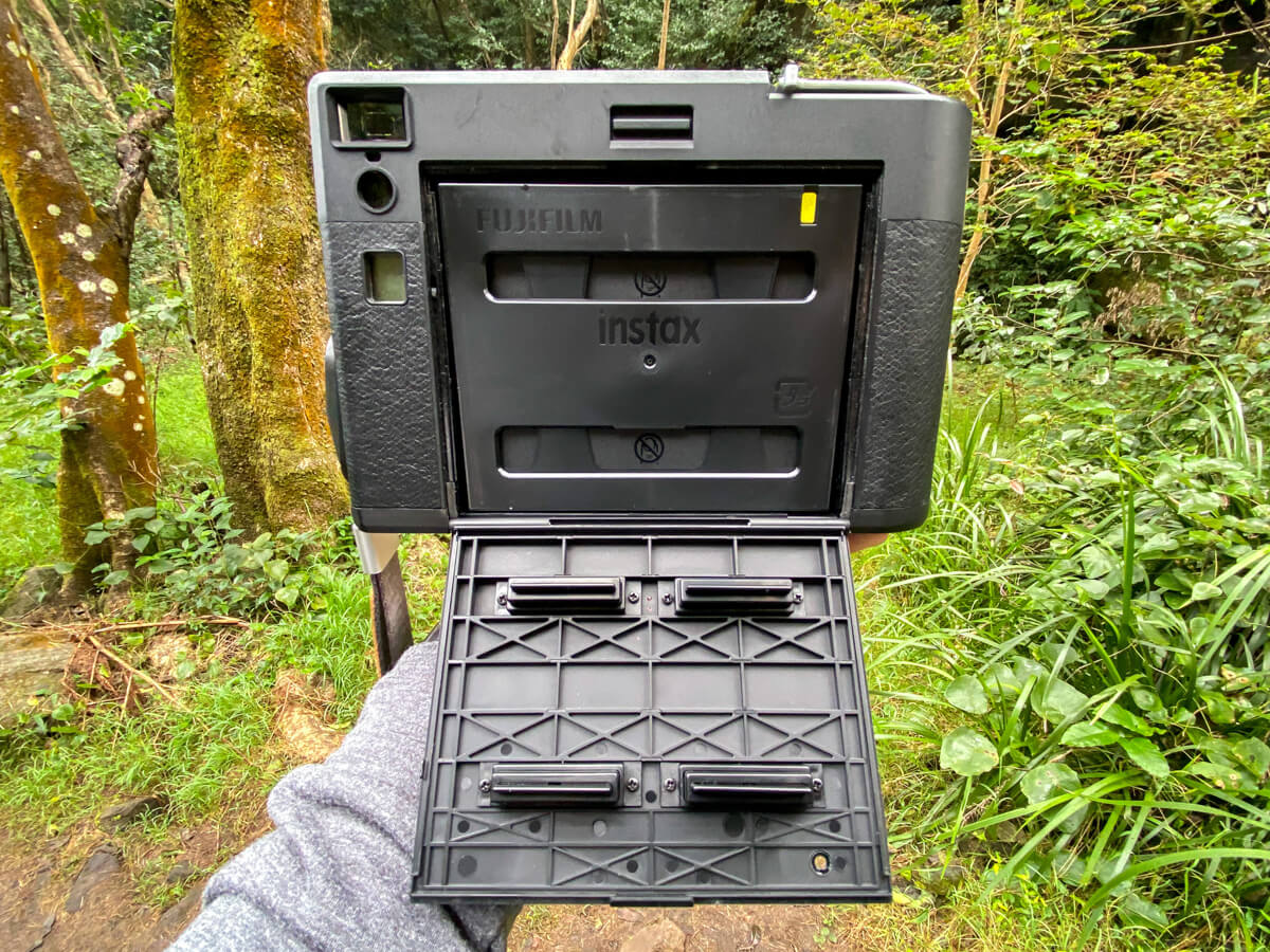 MiNT Instakon RF70 - Back door open, film loaded