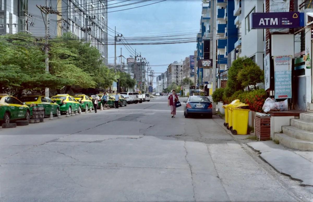Street scene - Salaya, Nakhon Pathom - 5 Frames… Of a gradually re-opened Bangkok on an Agfa Record III (120 Format / EI 160 / Kodak Portra 160) - by Graham Rogers