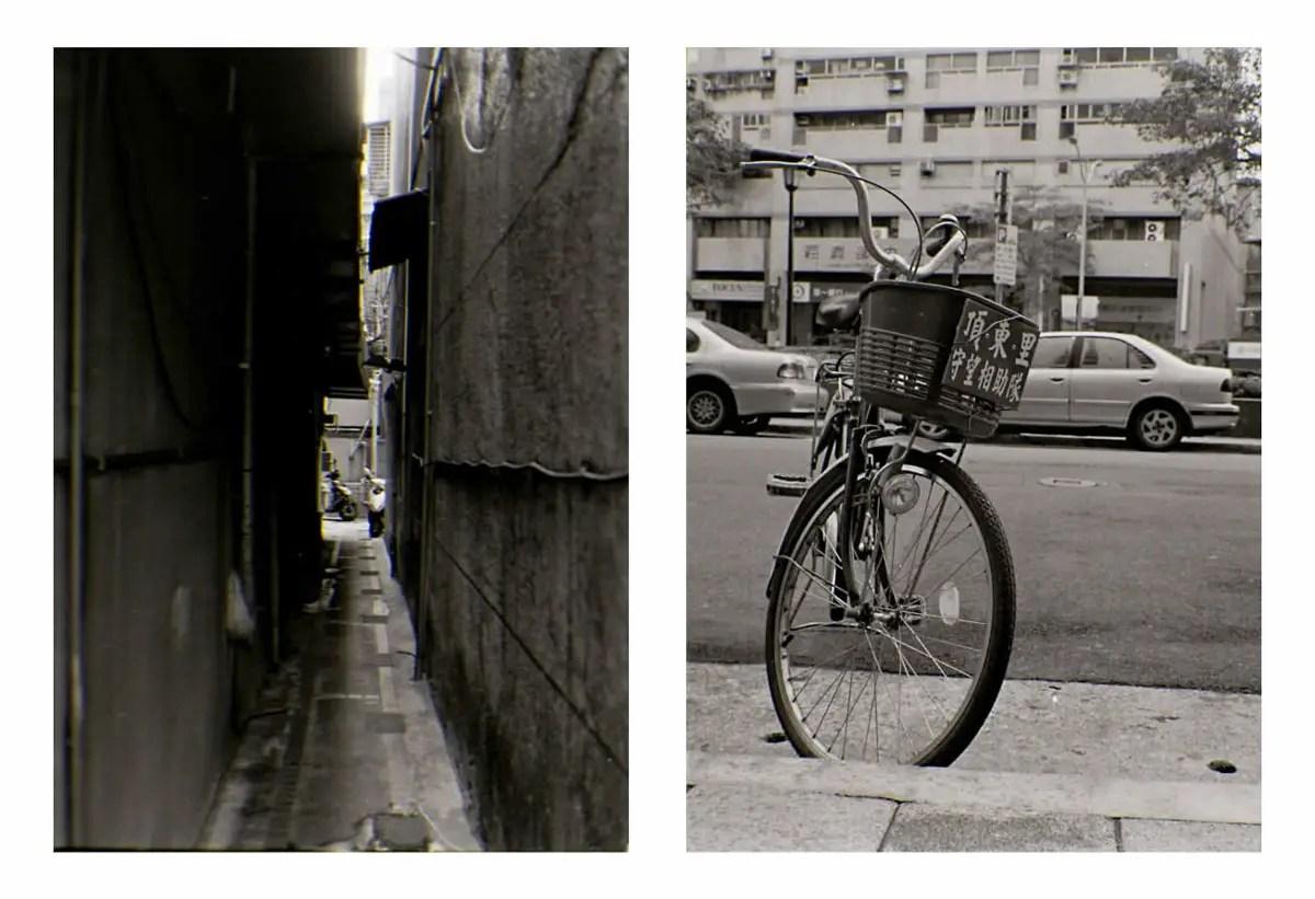 Kodak Tri-X 400 half-frame diptych