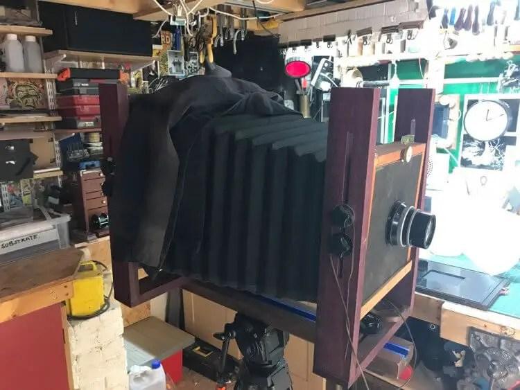 My homemade 8x10 wet plate camera, Vonnegut - Paul Whitehouse