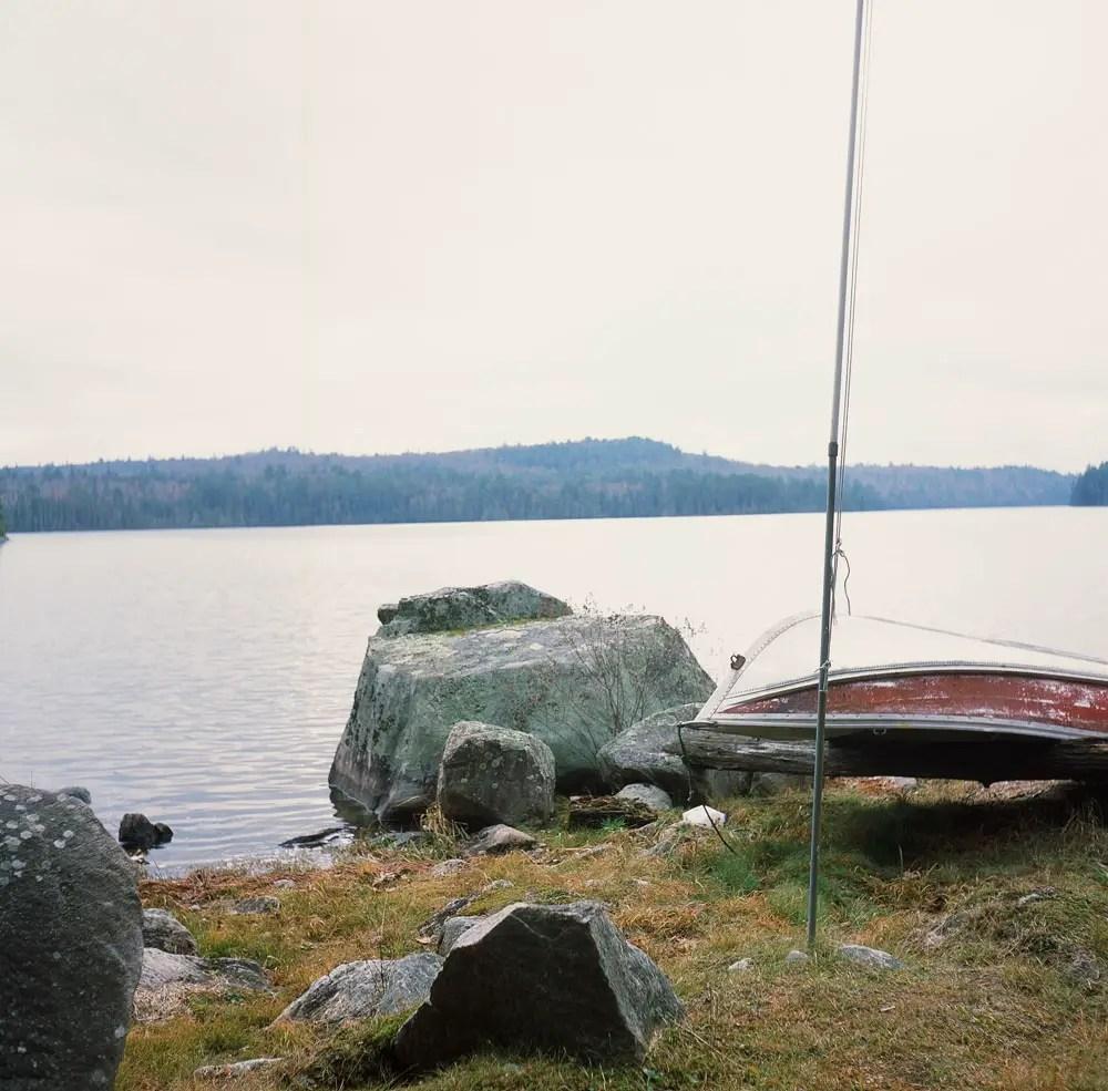 Boat & Big Rock - Fujifilm Provia 100F + Rolleicord III, f/8 1/30
