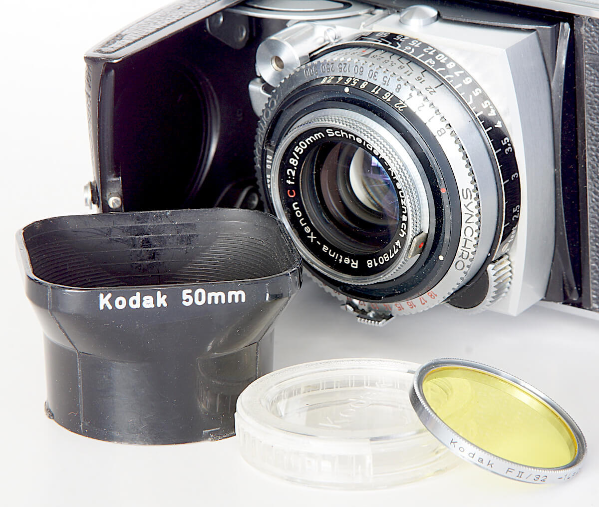 Kodak Retina with lens attachments