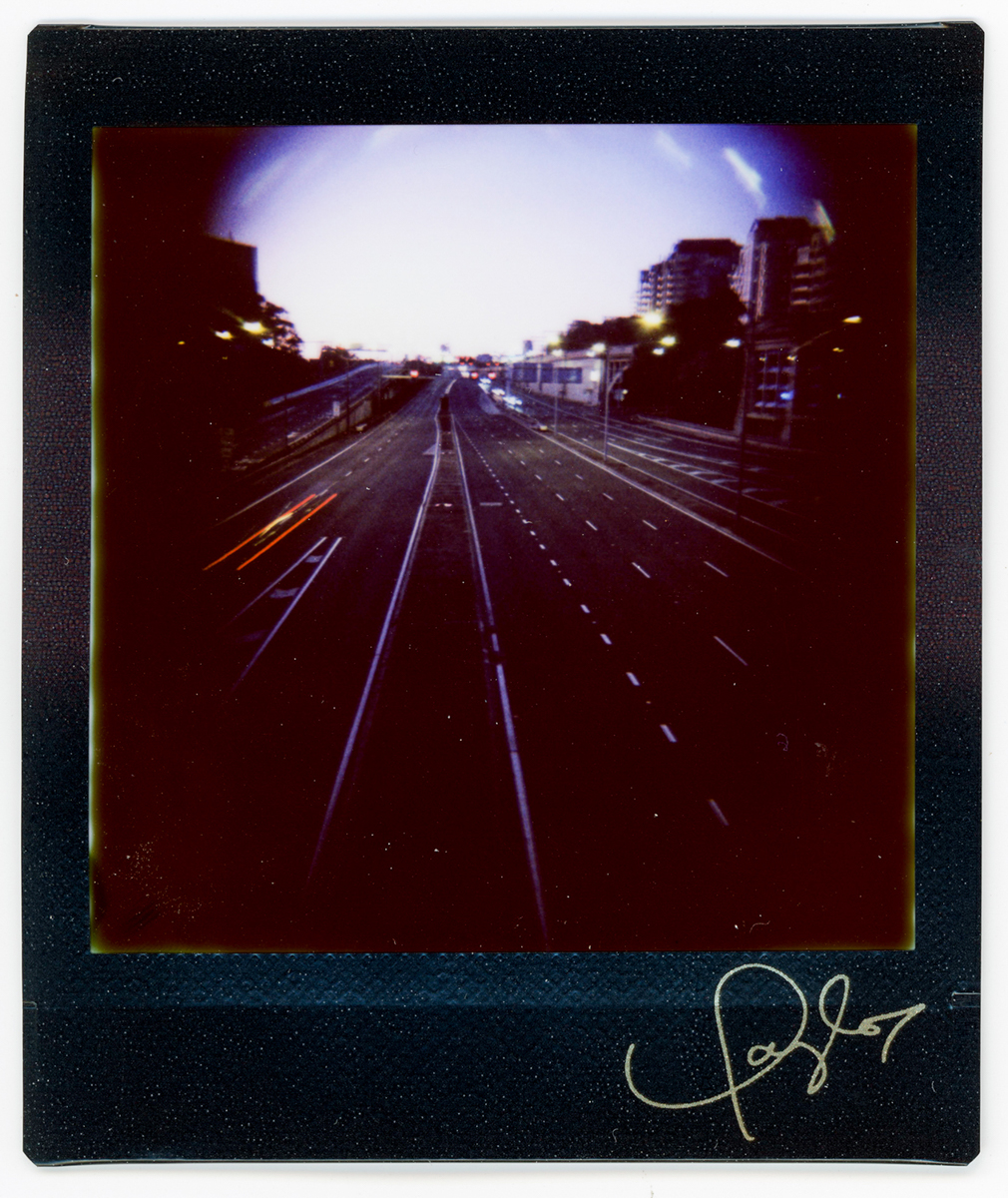 Low Light Highway - Lomography Diana Instant Square and Fujifilm Instant Square film