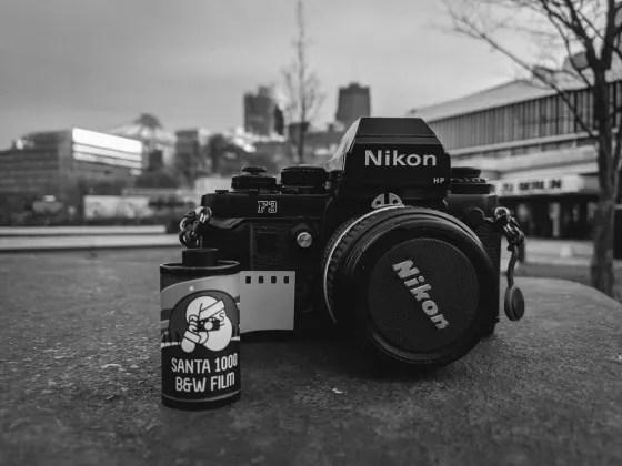 5 Frames… Of Santa RAE 1000 at Christmas in Berlin (35mm Format / EI 1000 / Nikon F3HP + Nikon Nikkor 50mm f/1.4 AI-S) – by Oleg Popelyaev