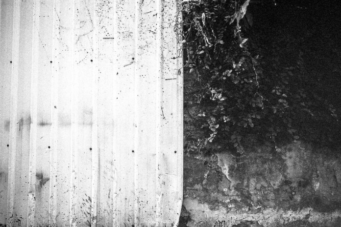 Two-tone - Fuji Neopan 400 shot at EI 200. Black and white negative in 35mm format. Over expose one stop and push processed two stops.