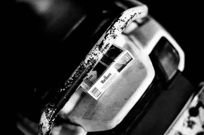2016-05-27 - Smoking skills - Kodak T-MAX 100 shot at EI 100. Black and white film in 35mm format.