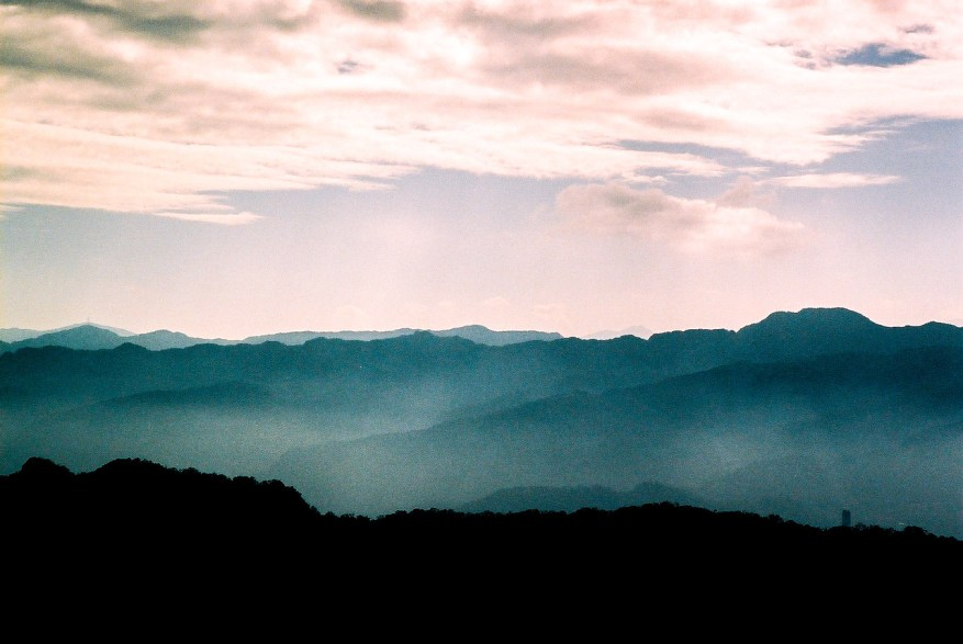 Misty Mountains - Shot on Kodak Portra 160NC at EI 100. Color negative film in 35mm format.
