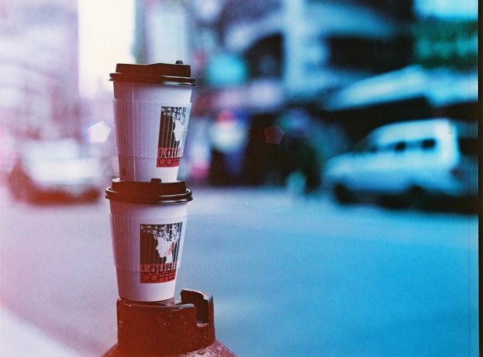 Coffee run - Lomography Lomochrome Purple XR 100-400 shot at EI 200. Color negative film in 120 format shot as 6x4.5.