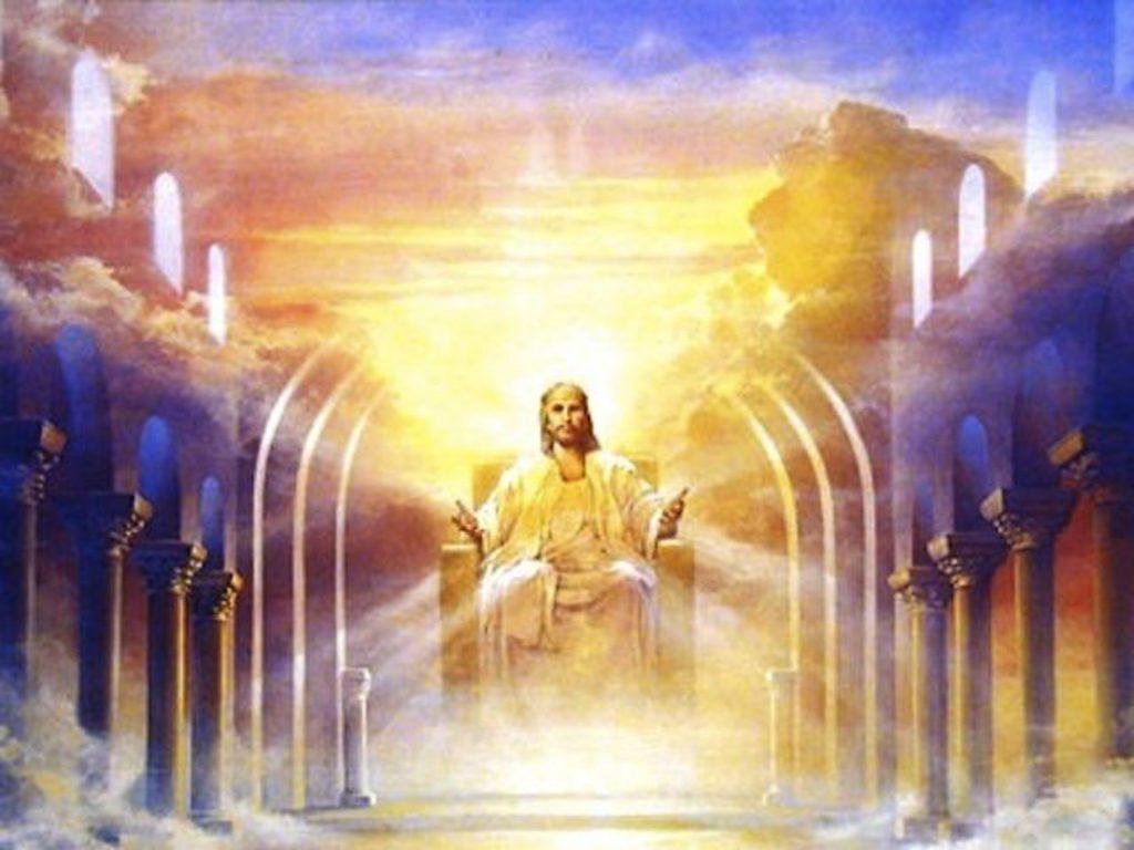 Jésus-assis sur le trône