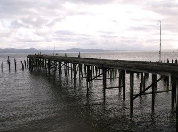 An old pier on the Columbia River