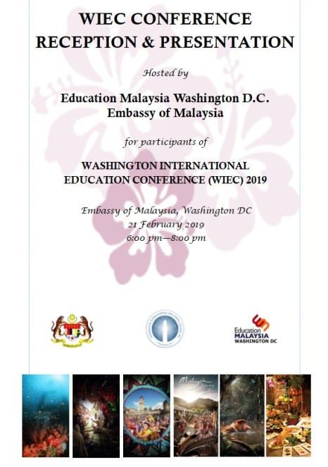 WASHINGTON INTERNATIONAL EDUCATION CONFERENCE (WIEC) 2019