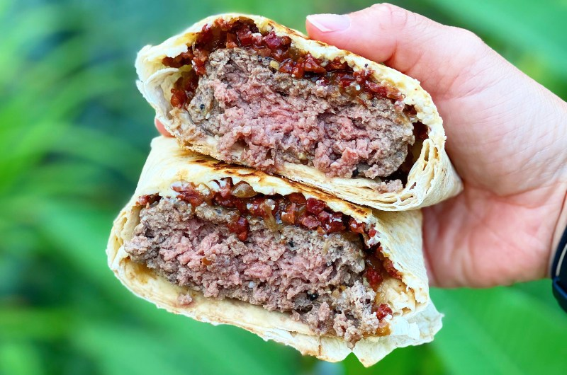 Turkey Bacon Jam Crunch Wrap Burger