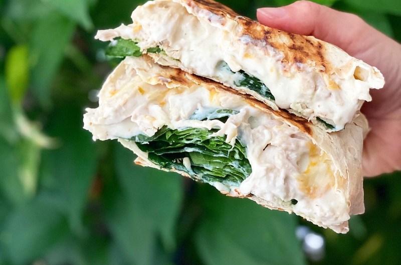 Spinach Enchilada Crunch Wrap