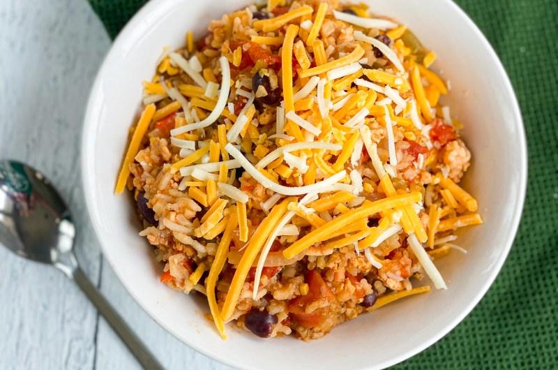 Instant Pot Cheesy Chicken Burrito Bowl