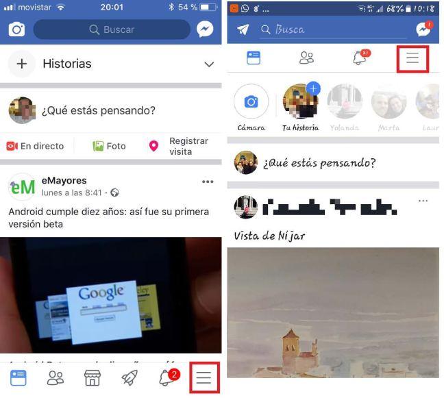 Facebook. Apple y Android