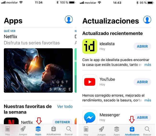 App Store. Apps y Actualizaciones