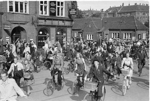 Centre-ville de Copenhague en 1945