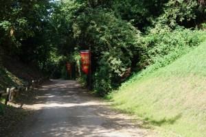 Weg zur Burg Talmont