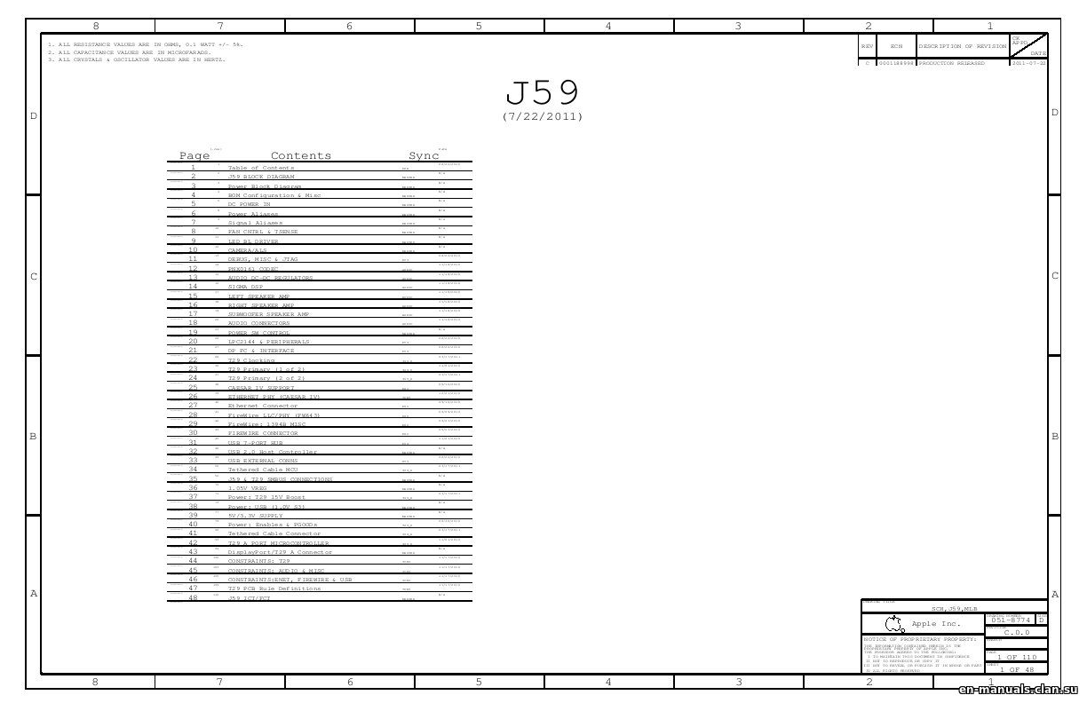 Schematics for Apple Thunderbolt Display 27″ A1407 in the